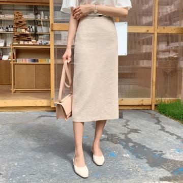 SOF linen long skirt