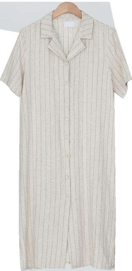 linen stripe long ops