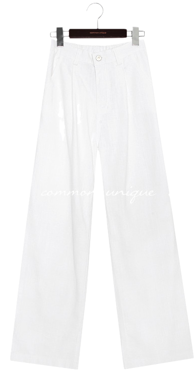 FLETA BANDING WIDE COTTON PANTS