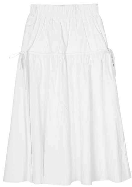 side strap flare long skirt - woman