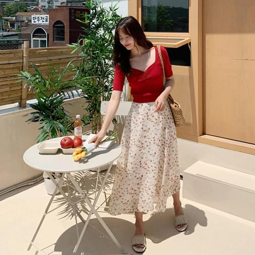 Cosmo Flower Long Skirt