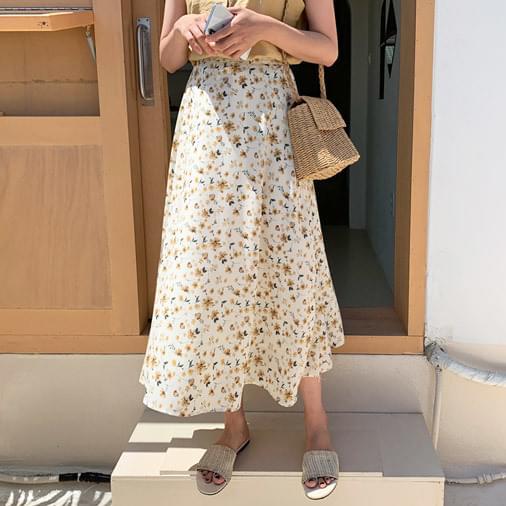 Misha flower long skirt