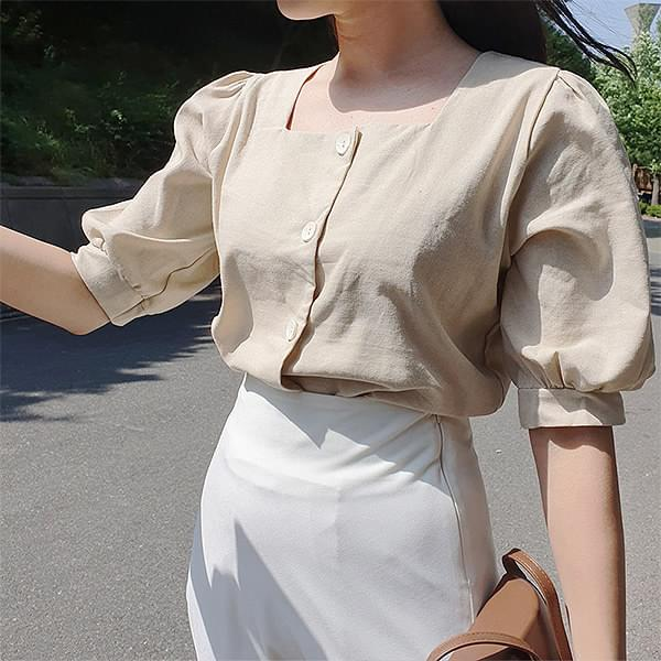 Mayree Button Blouse