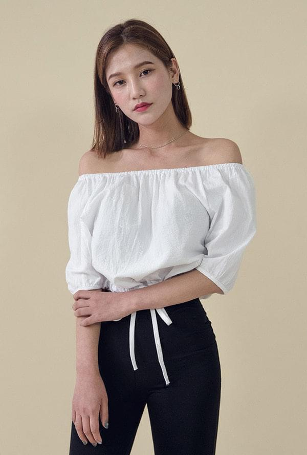 Off-Shoulder Strap Blouse