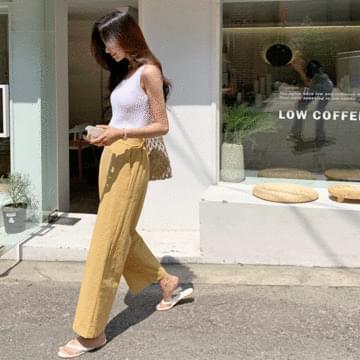Dewey Linen Wide Bending Pants