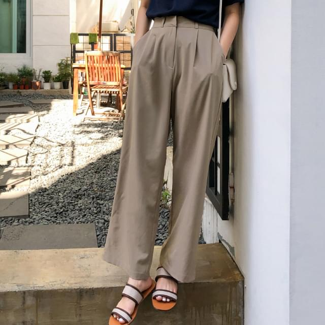 wide-fit banding slacks
