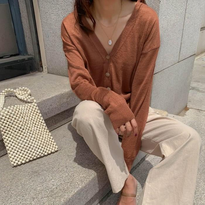 Season colored linen cardigan