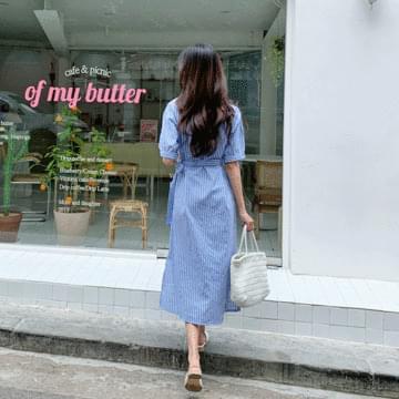 Rough Stripe Long Dress