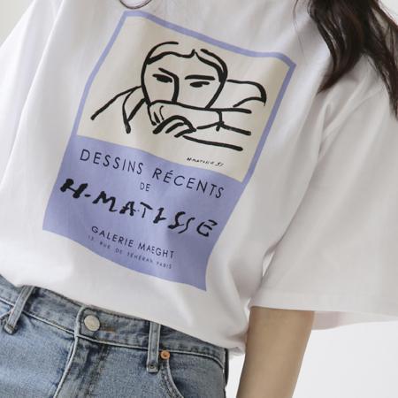 Drawing Printing T-shirt