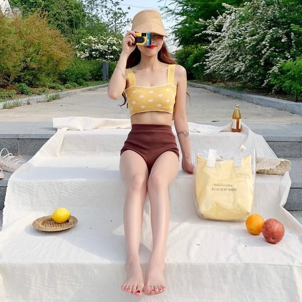 Dongle knit bikini