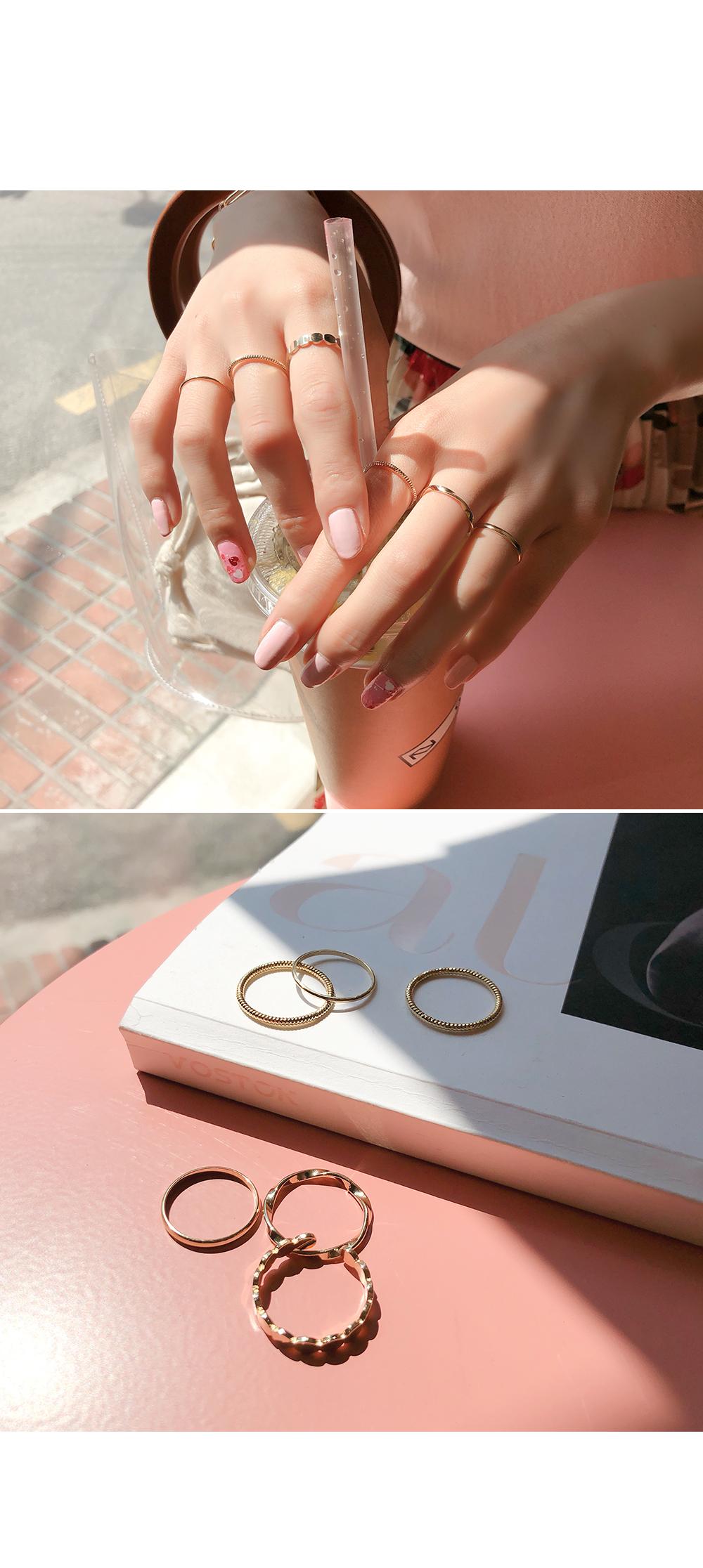 Pretty ring full ring SET