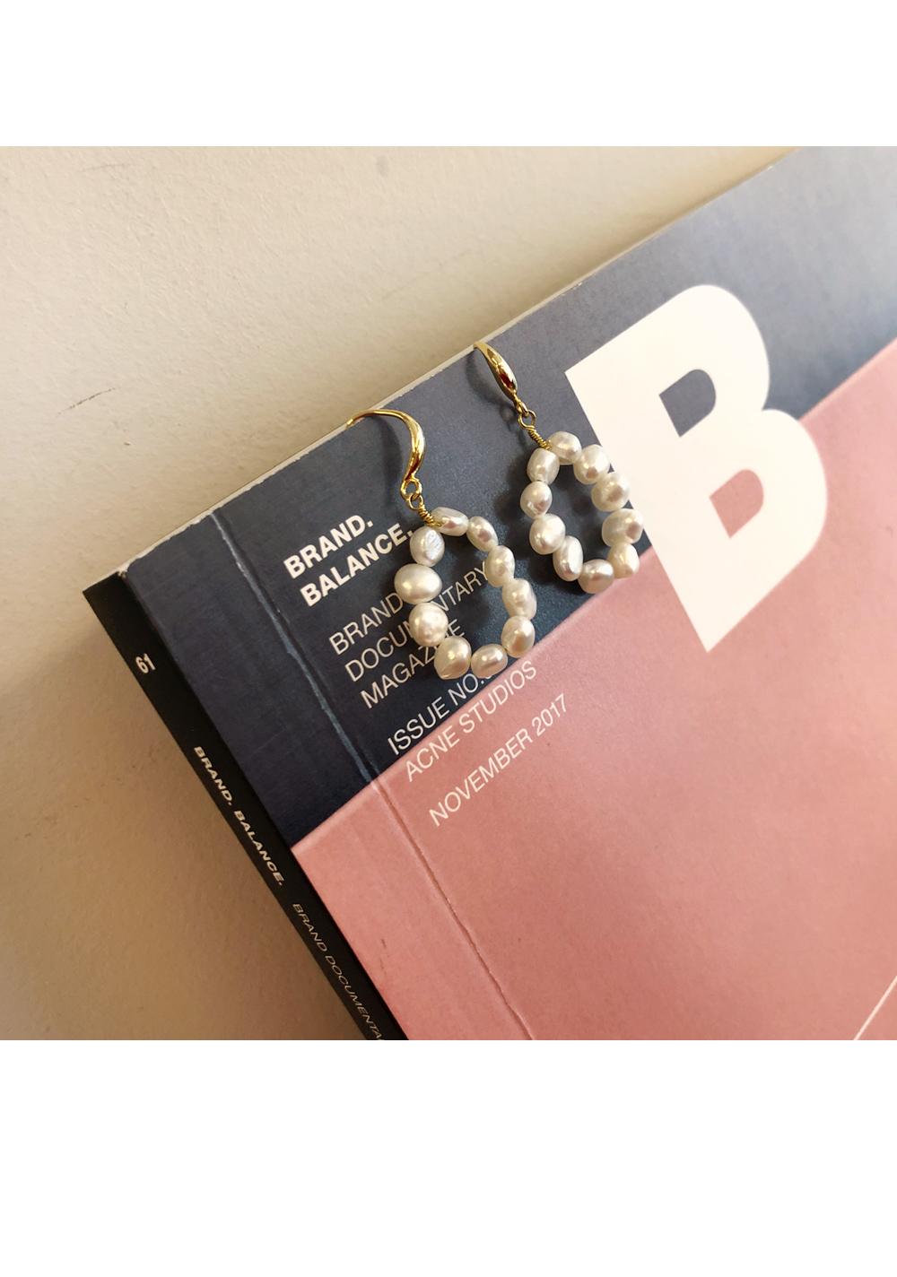 Shine-up Pearl Earrings