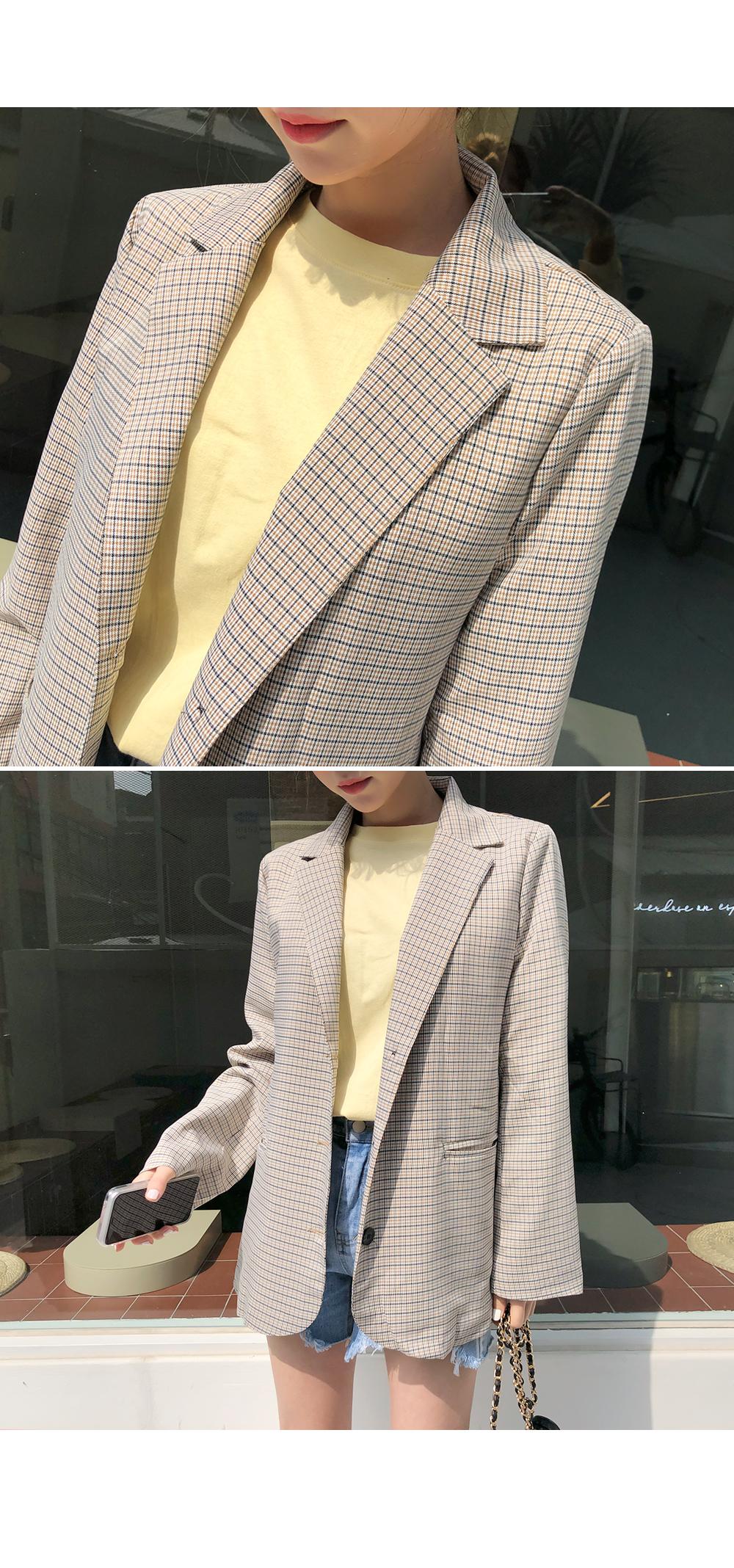 Breeze check jacket