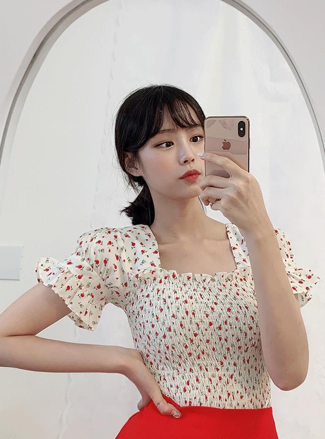 Rose Smoke blouse