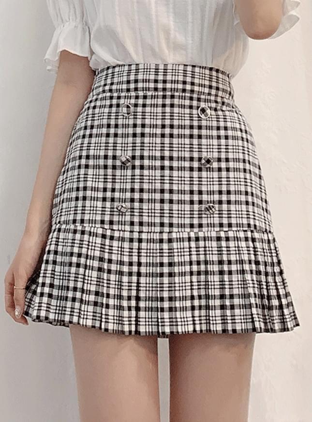 Juni Check Skirt Pants