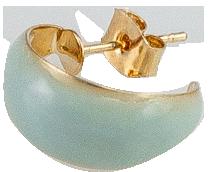 minimal curve shape earring