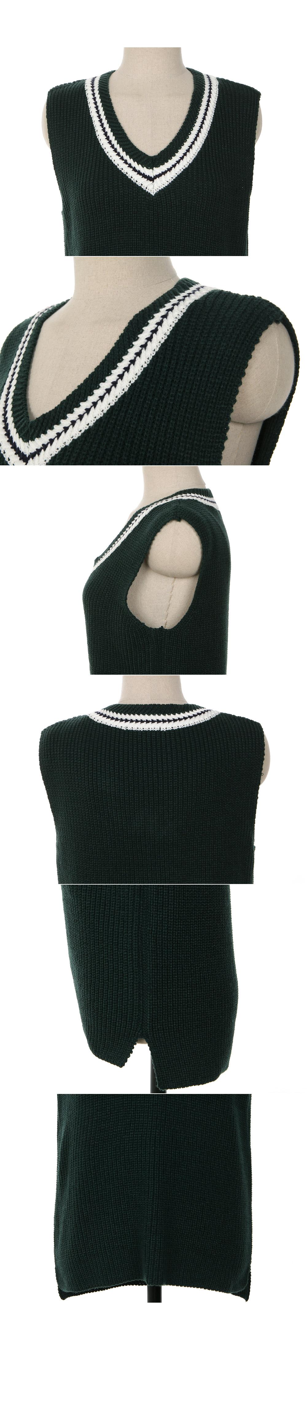 Trill color vest black
