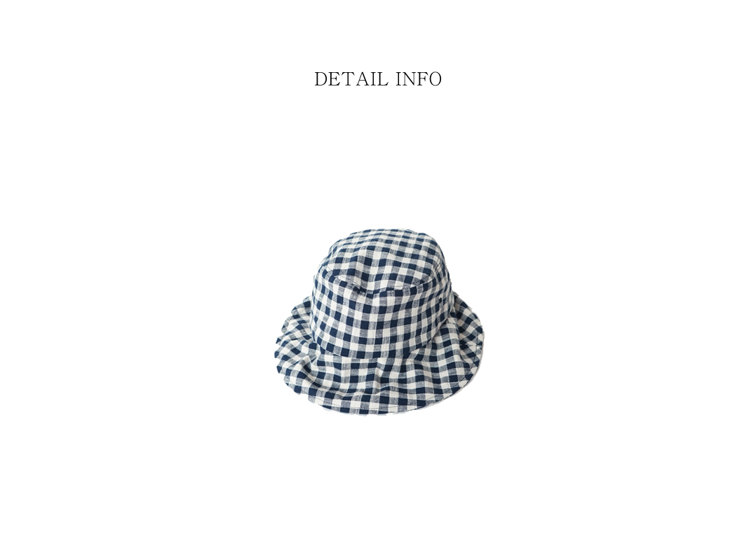gingham check bucket hat