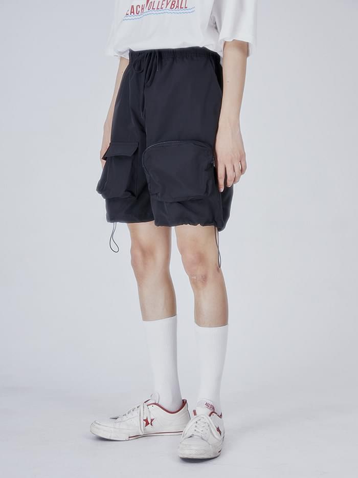 pouch string half pants - men