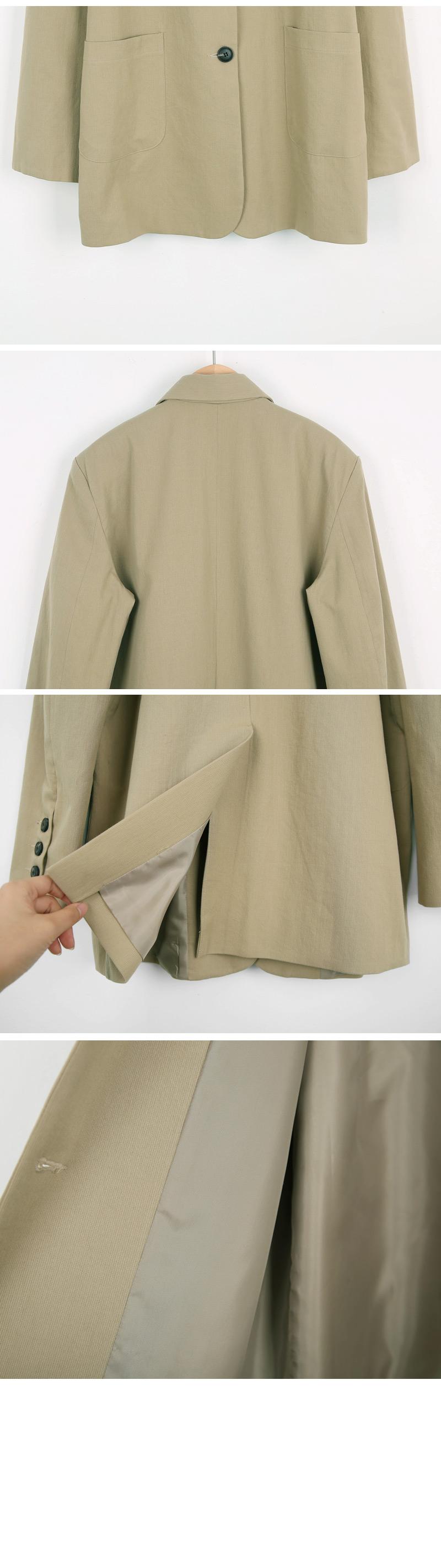 Wood Three Button Jacket