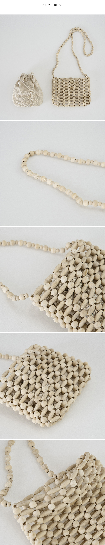 wood bead mini bag