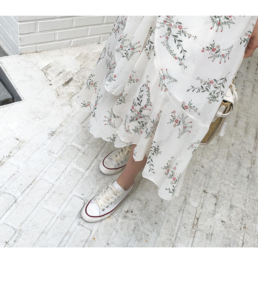 Chiffon Flower Wrap Skirt