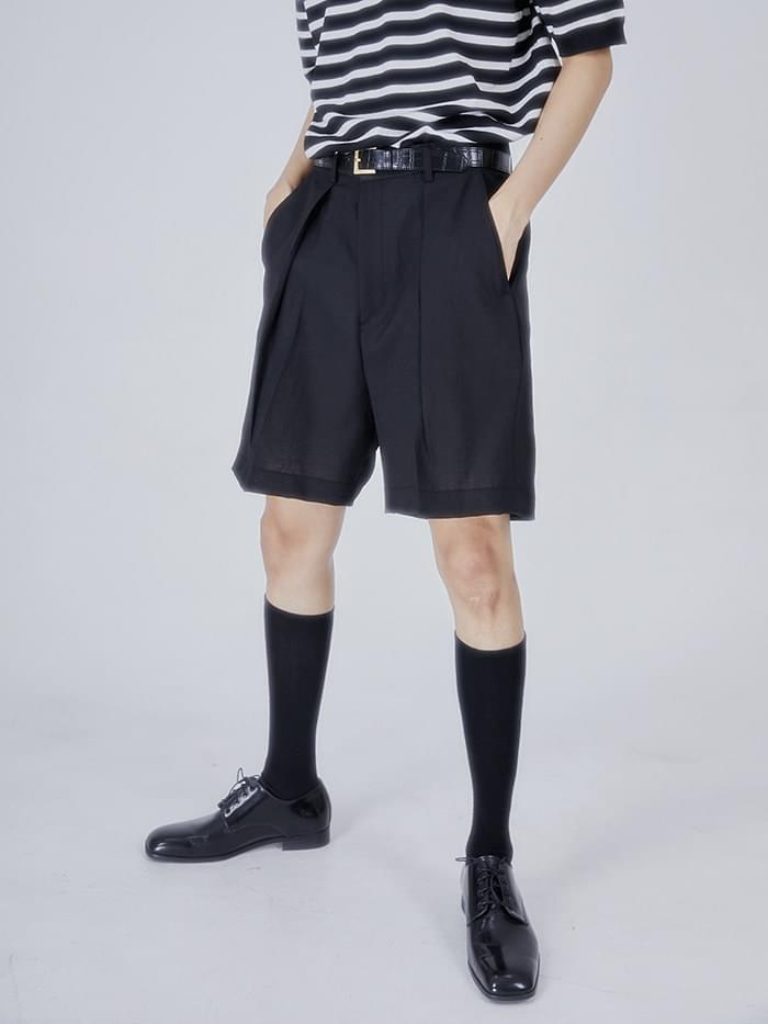 modern pintuck half pants - men