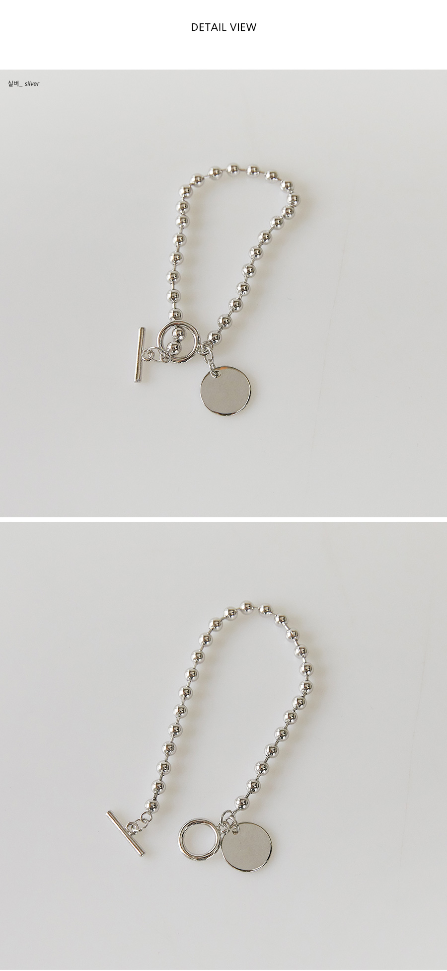 circle pendant bold bracelet