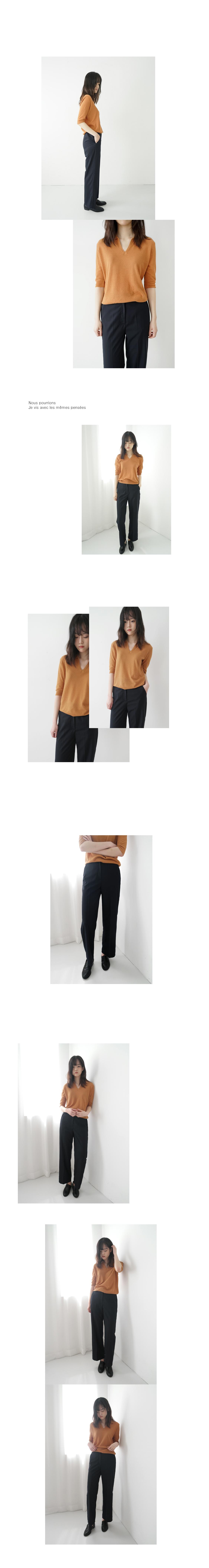 simple steady banding slacks (2colors)