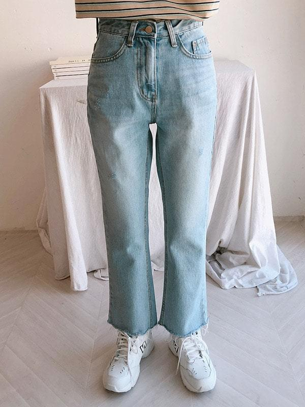 852 cut denim pants