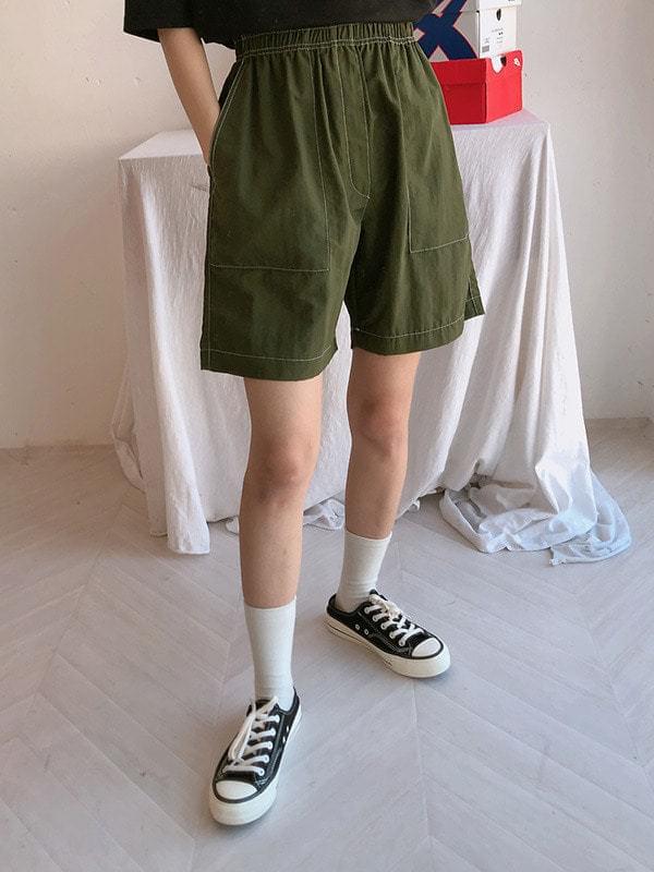 Stitch shorts