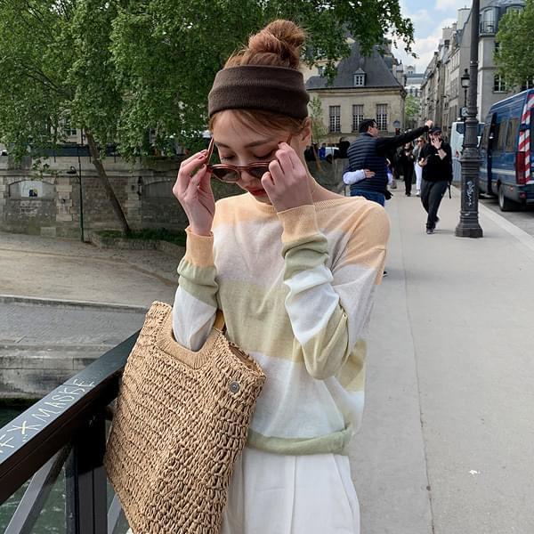 Linen striped knit