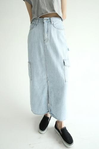 vintage pocket detail denim skirts