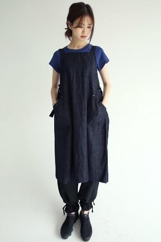 apron silhouette cotton dress
