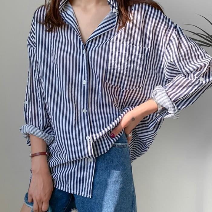 Picnic roll-up striped shirt