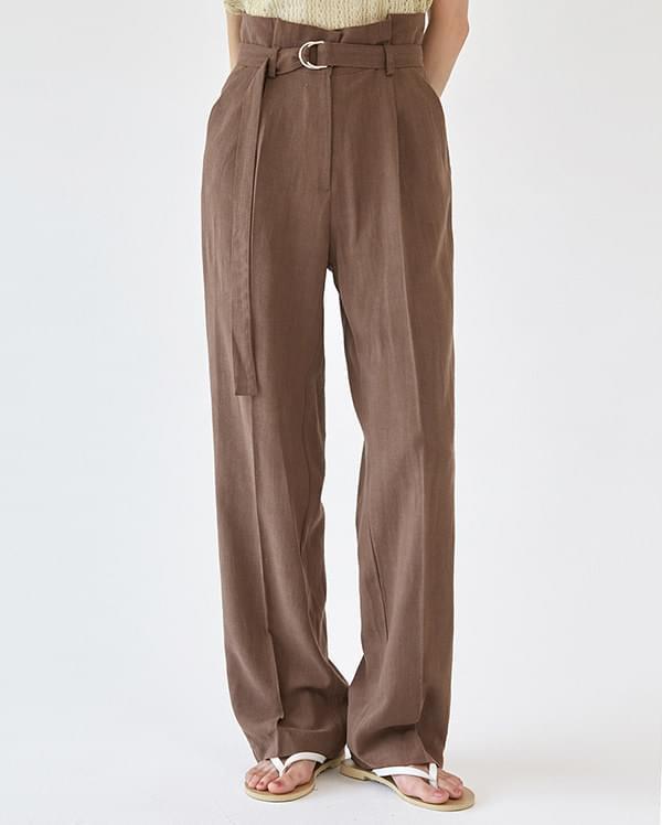 belt usual linen slacks