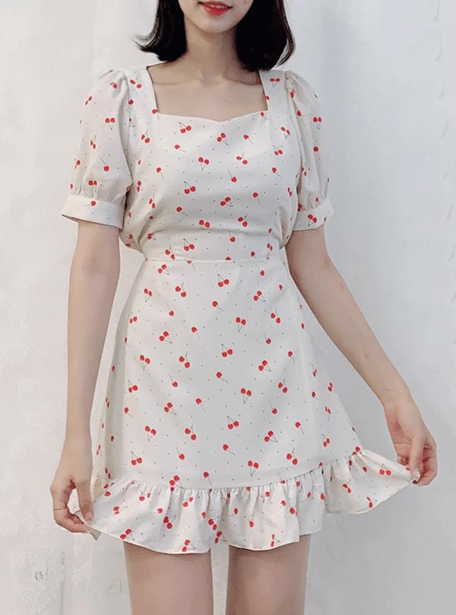 Cherry Square Dress