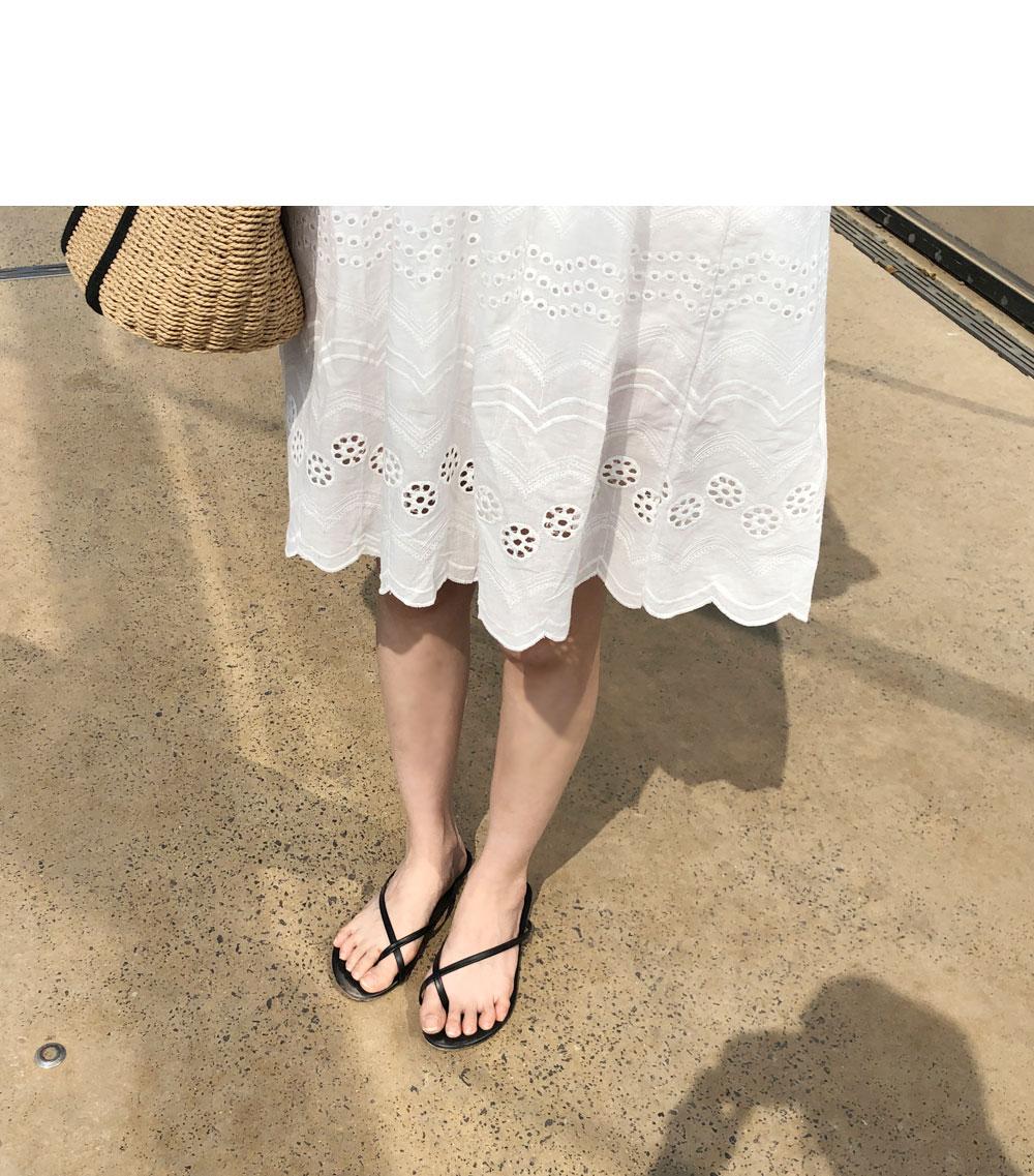 Plain Lace Dress + Slip SET