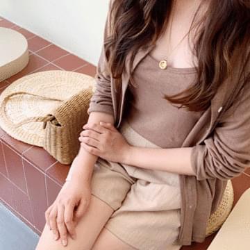 Summer linen cardigan set