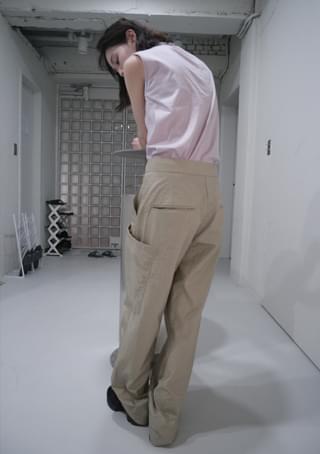 crispy texture big pocket pants (2colors)