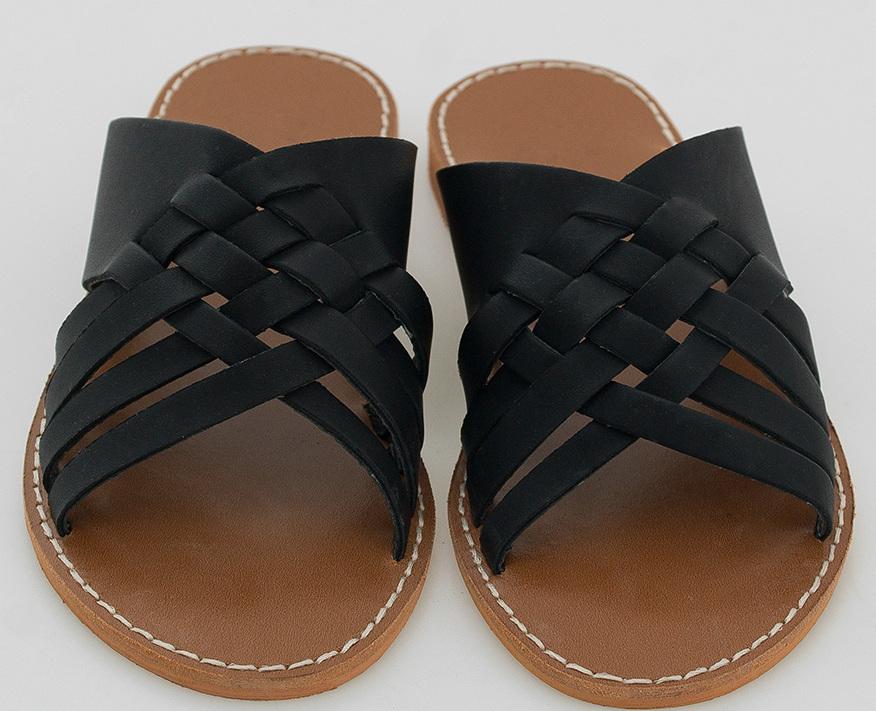 unique cross strap slipper
