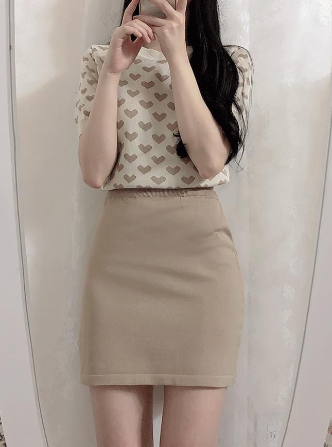 Order ♥ heart cut + mini skirt set