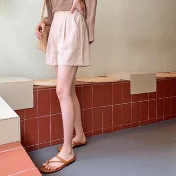 Real linen 5 pants