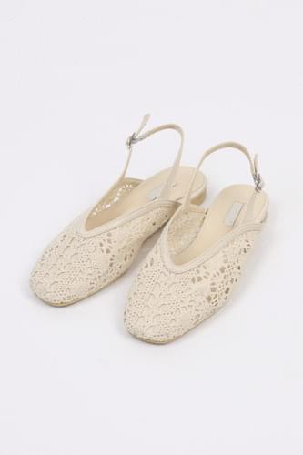 net shape slingback (2colors)