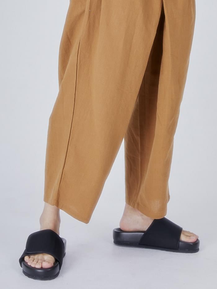 canvas velcro slipper (2 color) - men