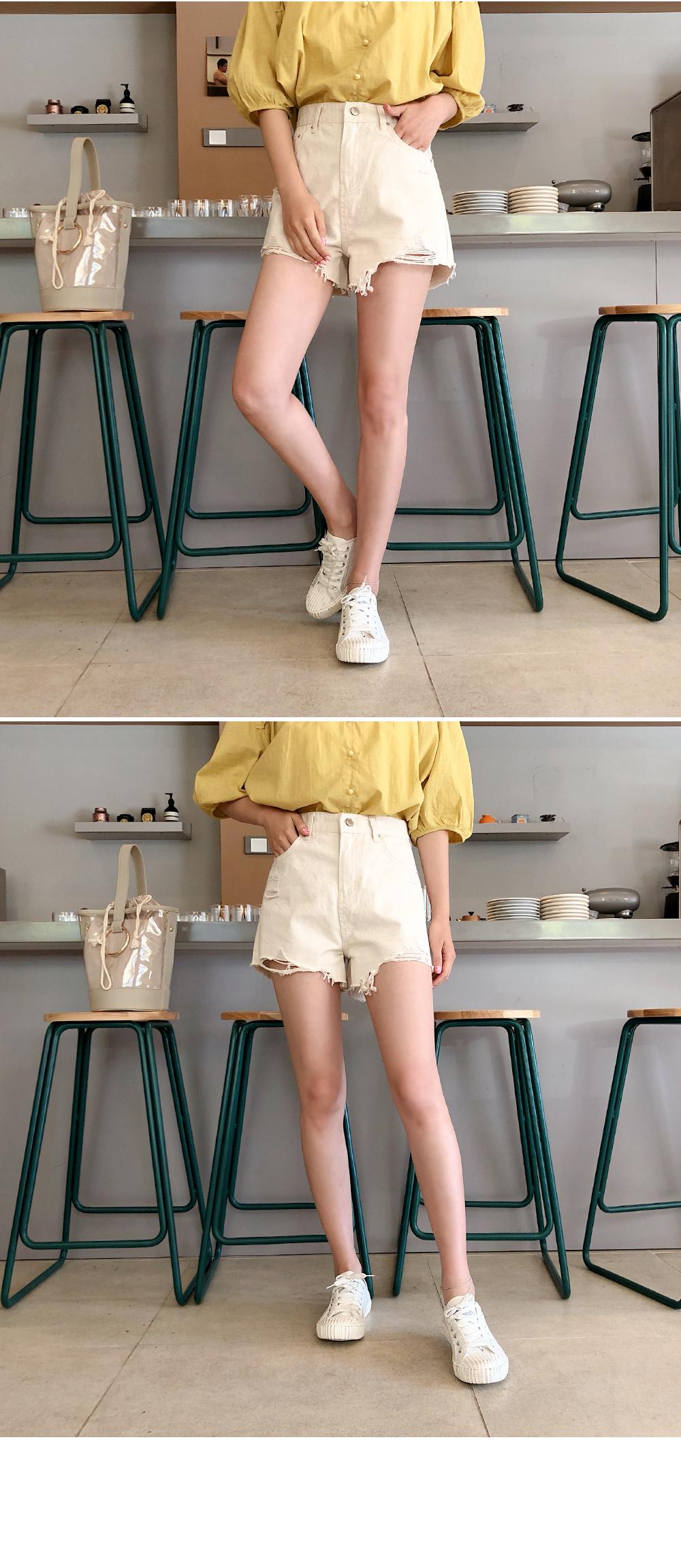 Stitch short pants