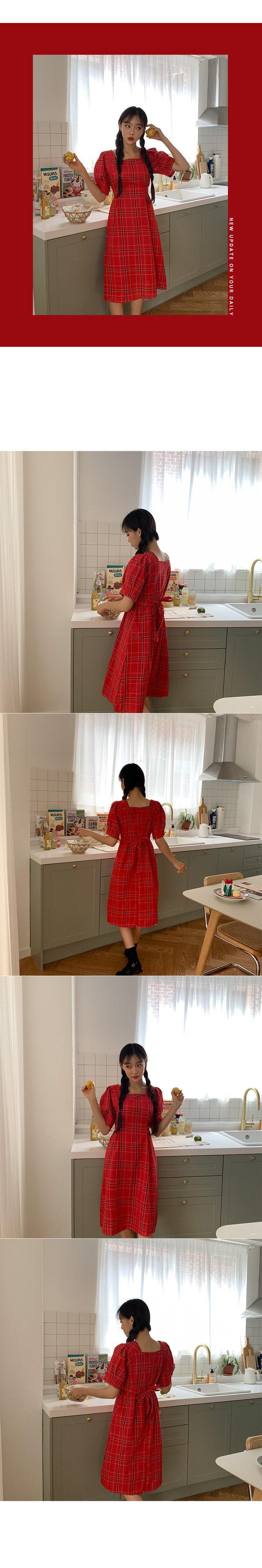 Dream Square Check Dress
