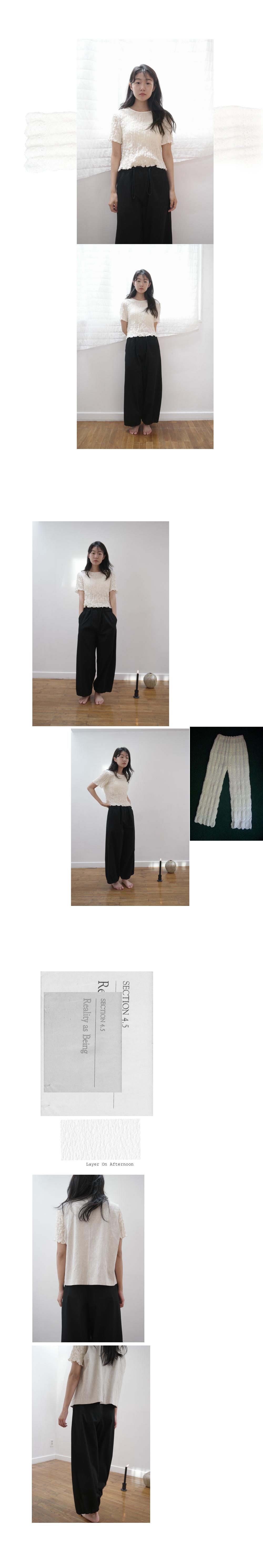 monochrome string pants (type C)