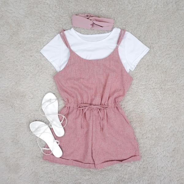 Simple cotton suspenders P