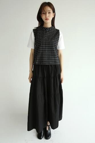 light cozy check sleeveless (2colors)
